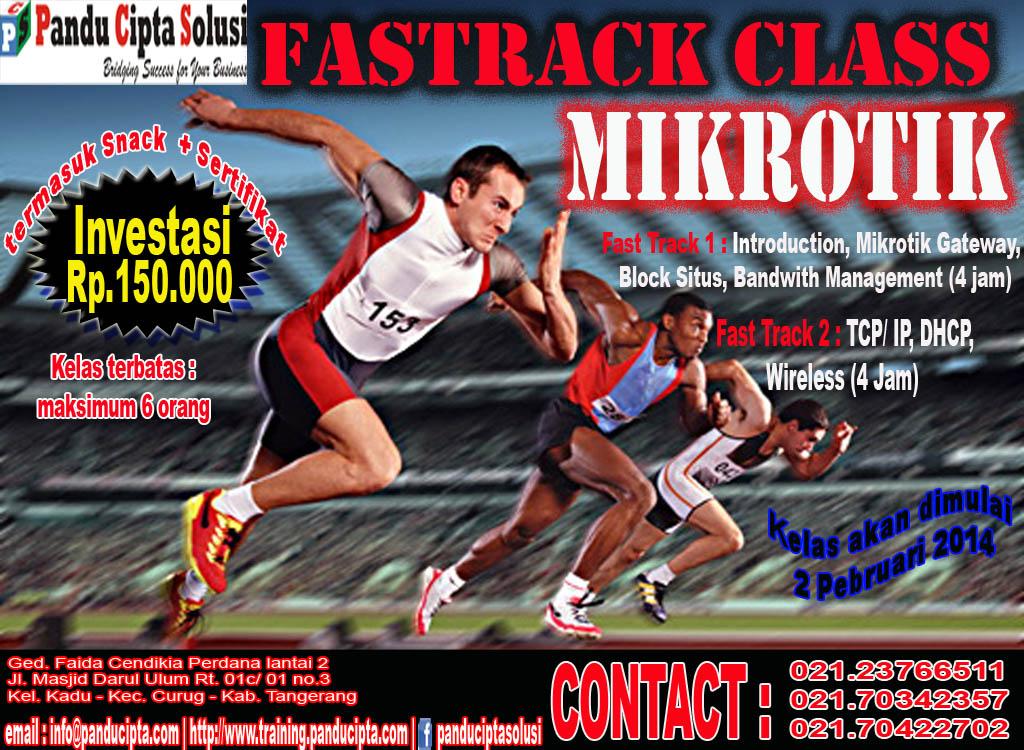Brosur Mikrotik Kelas Fast Track Mikrotik