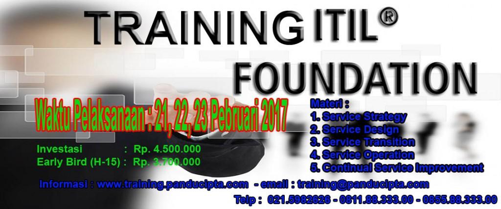 Flyer Training ITIL Pebruari 2017